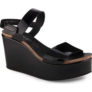 PEDRO GARCIA Dulce wedged patent leather sandals